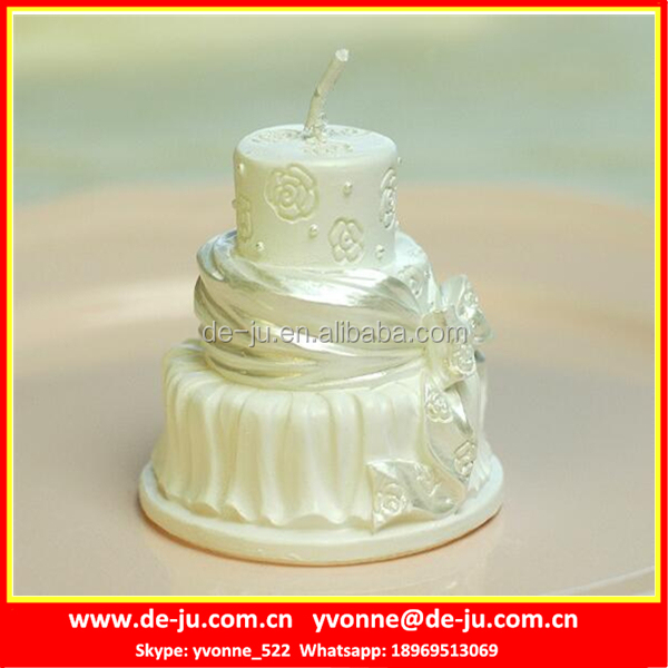 Popular Three Layers Birthday Cake Shaped Household Candle