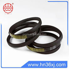 Credited manufacturer high qualty rubber products polyester cord v belt