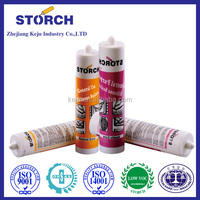 Neutral cure silicone sealant glue making for glass