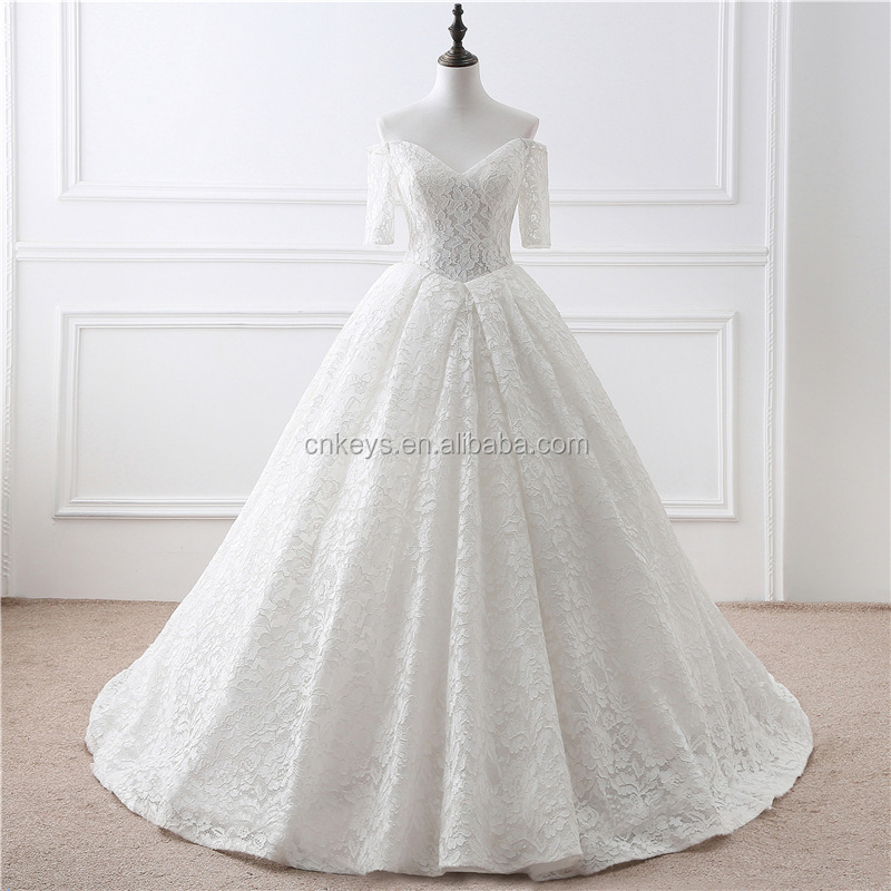 K1940A 2017 Latest European Model Off-shoulder Wedding Dress For Beautiful Bridal