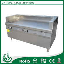 freestanding stainless steel electric induction griddle flat plate