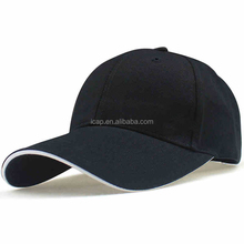 Custom High Quality 100% Cotton blank Baseball Cap Hat/cap manufacturer wholesale