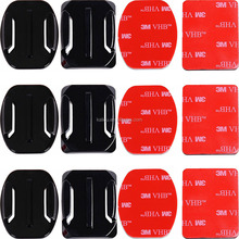Kaliou Sports camera 12 PCS Helmet 3M Adhesive Pads Sticker Curved Side Mount Accessories for GoPros