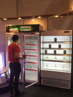 outdoor mini fridge /supermarket commercial refrigerator with CE certificate