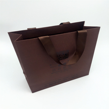 wholesale handmade Cardboard retail foldable paper bag with your own logo