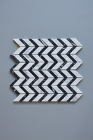 China sweet white and Nero Marquina marble mosaic,Black And White Marble Mosaic Floor Tile