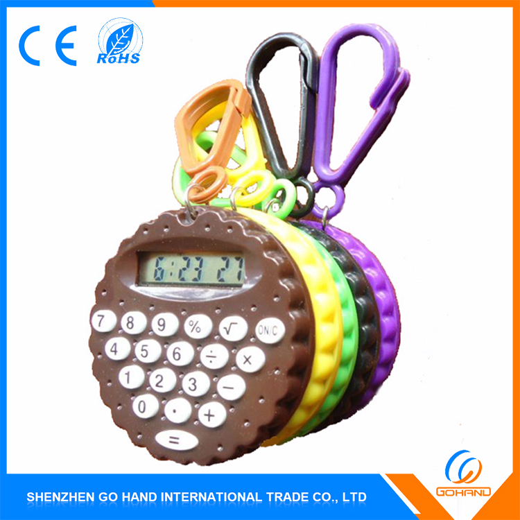 New Style Gift Pocket Electronic 8 Digit Mini Keychain Calculator