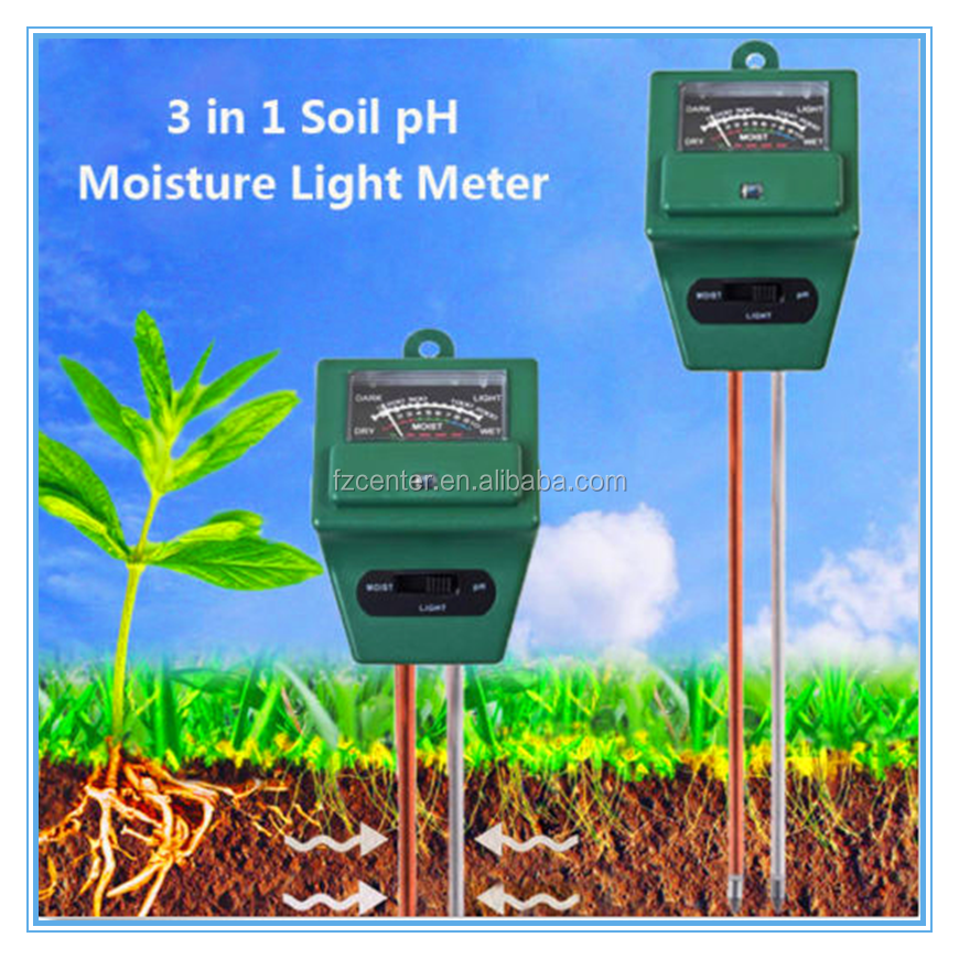 3 in 1 soil ph moisture light meter Analysis Tester for hygrometer acidity