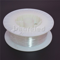 0.5mm 0.75mm 1mm 1.5mm 2mm 2.5mm 3mm PMMA fiber optic cable end glow for decorat