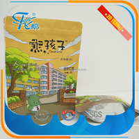 China wholesale high quality food grade ziplock plastic bag , stand up pouch , stand up bag