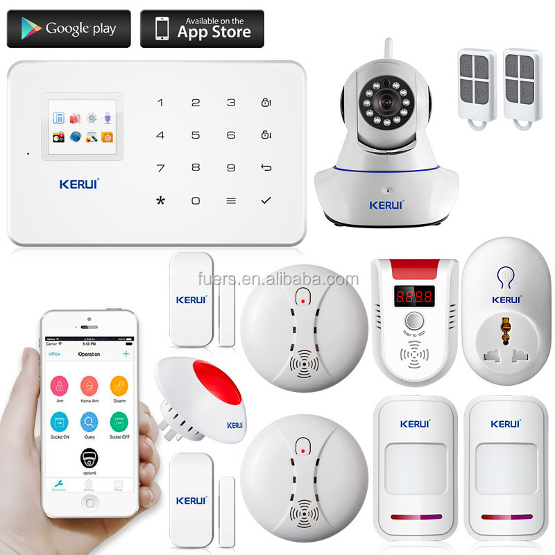 2017 hot KERUI alarm G18 with wireless motion sensor gsm pstn dual network burglar alarm system