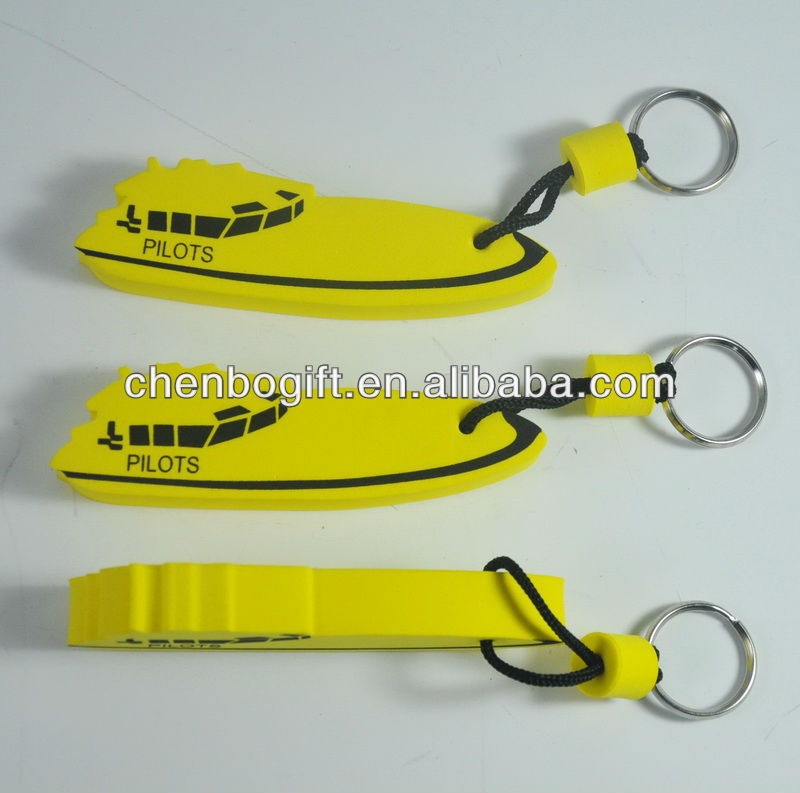 Sailboat floating keychain, boat shape floating key chain