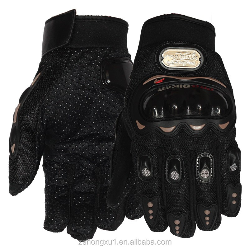 Hot Designs Motorcycle Sports Black Gloves