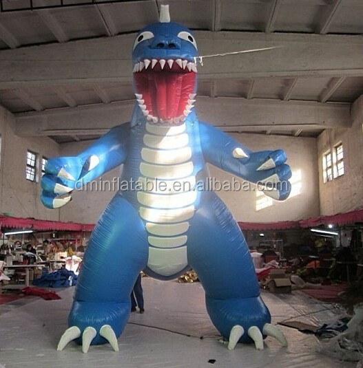 customize inflatable blue dragon for advertising