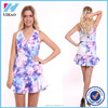 Women Summer Style Dress Vestidos Floral Sleeveless Mini A Line Backless Casual Skater Dress