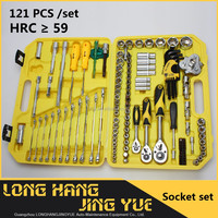 HRC 59 Carbon Steel Hardware Tool , 121 PCS Socket Set For The Machine household