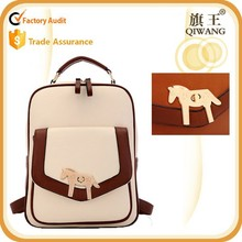 Leather small bag satchel school bag for casual men