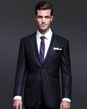 Super 110's 100% Wool Notch Lapel Navy plain made to measure men wedding suits pictures