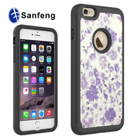 Leather Skin Sticker Mobile Phone Outer Case For iPhone 6S/6S Plus Flip cover