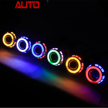 Autoki 3.0inch 2.5inch angel eyes hid bi xenon projector lens light