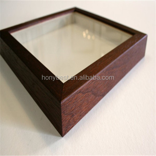 Finished Brown Wholesale Wooden Shadow Box Frame,Shadow Picture Frame HY1357.jpg