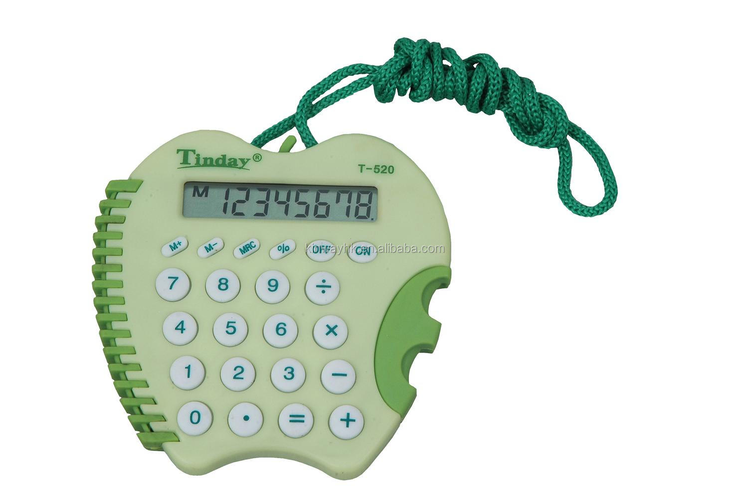 premium electronic green apple mini 8 digits pocket calculator