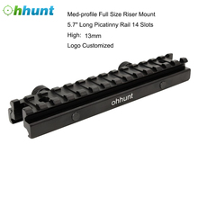 Ohhunt 14Slots Tactical Hunting Scope Riser Base Mount 20mm Adapter Bracket Dovetail Weaver Mount Picatinny Rail Riser Mount