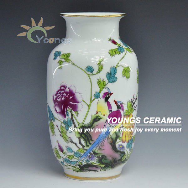 Chinese Ceramic Famille Rose Vases