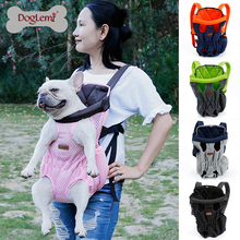 Summer Mesh Dog Bag Carrier Comfort Breathable Double Shoulder Pet Dog Carrier Backpack