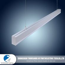 4500K 1.2m 40W hanging led linear light fixture