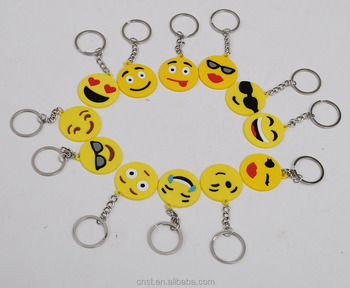 new product 2016 emoji keychain silicone key chain