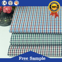 Factory wholesale check fabric school uniform for garment