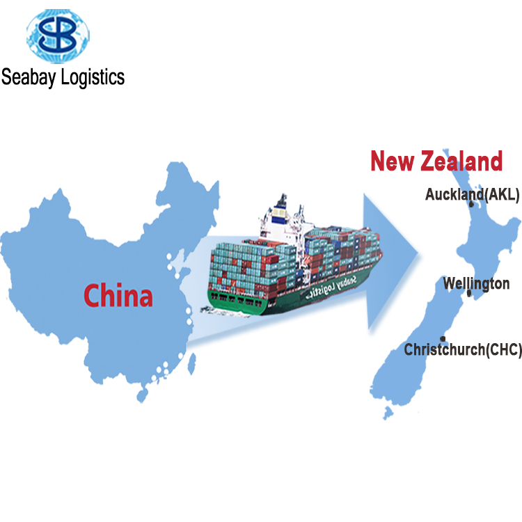 sea freight ningbo shenzhen shanghai guangzhou china to wellington auckland napier tauranga new zealand