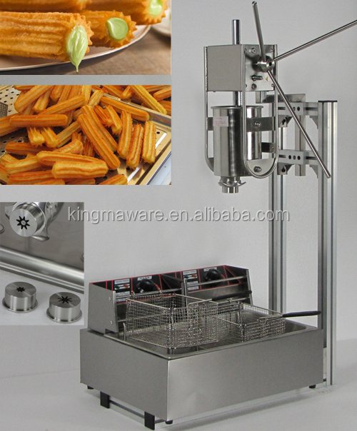 churros machine with a 12L electric fryer, churros maker with 3 different models for different shapes