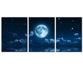Landscape Canvas Wall Art Full Moon Sea Painting Picture Printed on Canvas for Wall Decor