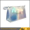 square shape custom made printed frosted eva zipper plastic packaging bag
