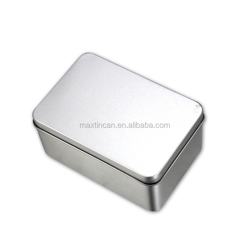 Customized Printed Food Storage Silver Metal Jewel Box