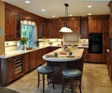 Kitchen Cabinets Type and Solid Wood Door Material fitted kitchens china