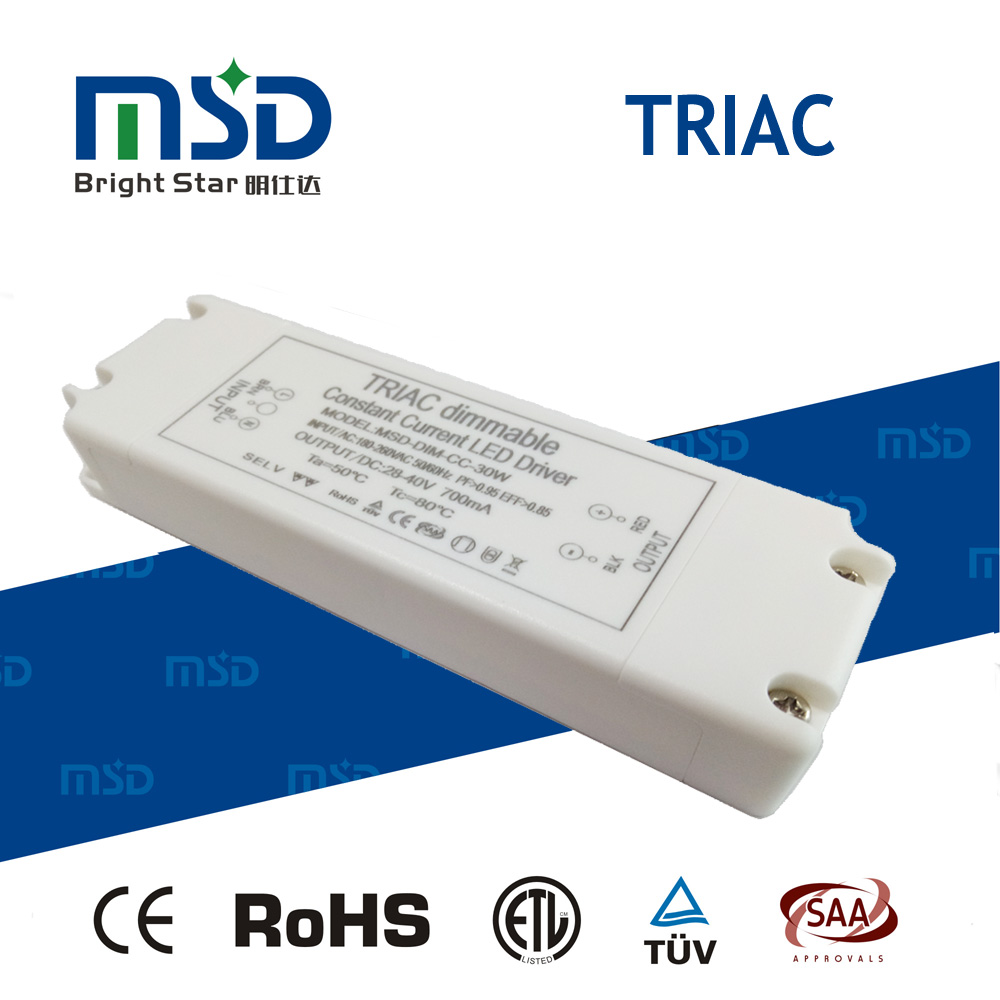 5 years warranty Triac Dimmable Constant Current LED Driver 30W 700ma transformer shenzhen LED power supply with high PFC