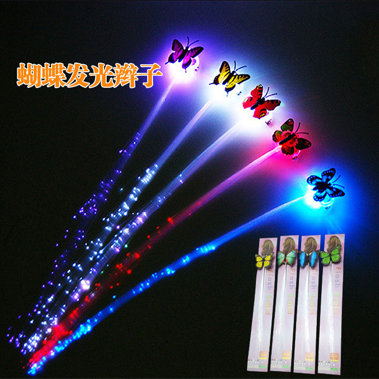 led light led hair braids butterfly design
