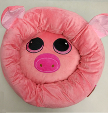Pig shape printed Pet round cushion sofa beds