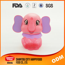 Funny Elephant Shaped Plastic Bottle Candy Bottle Pink Color