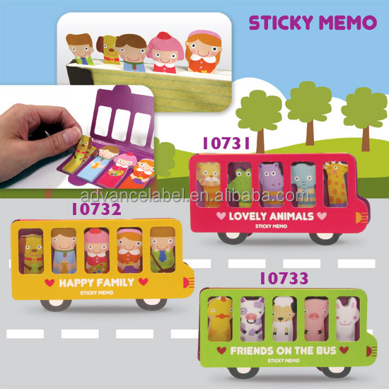Sticky Memo - Friends on the Bus