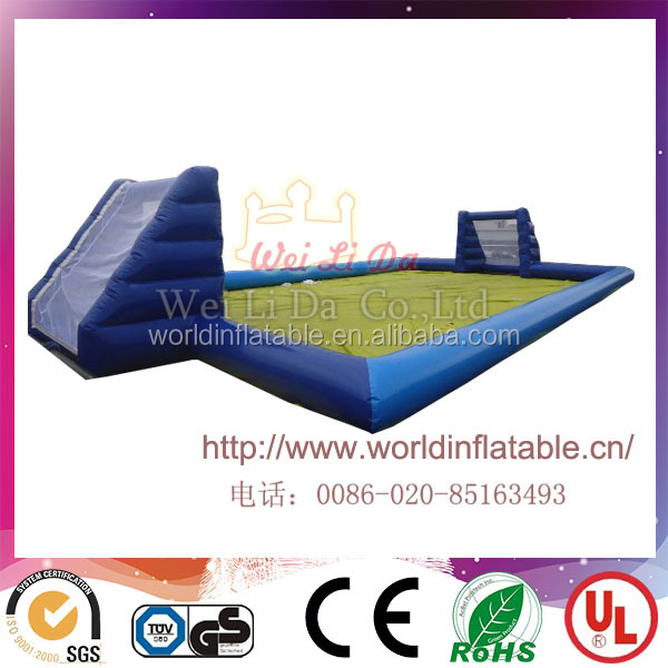 Commercial subbuteo inflatable pitch,movable inflatable table football field for sale