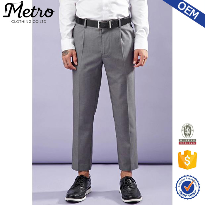 OEM Service Latest Design Light Straight Creased Trousers for Men