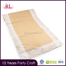 New Products 2016 Lace Trimming Burlap Table Runner Party Supplies Centerpieces For Wedding Table Wedding Table Cloth