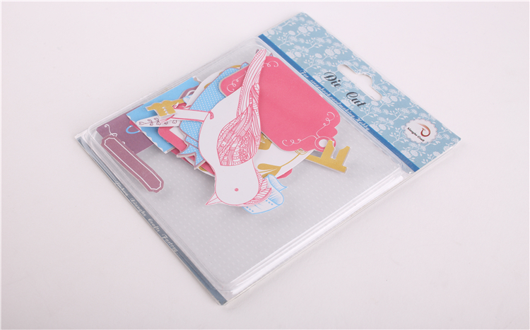 craft printed paper die cut shape for hobby scrabooking