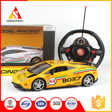 High speed rc super sport remote control car with steering wheel