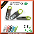 2016 Wholesale Promotional 3D Digital Pedometer Fitness Simple Keychain Pedometer Calorie Calculation Counter