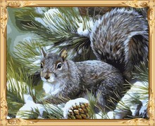 hot photo animal squirrel oil paint by numbers for adults GX7549